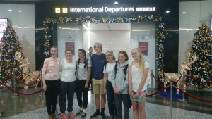 2015 German exchange group about to head off 251115