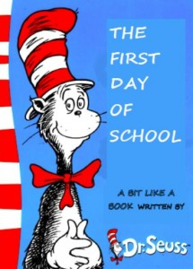 The First Day of school cover