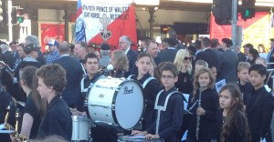 Gerard in MYM ready to lead off Anzac March