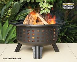 Aldi brazier with fire